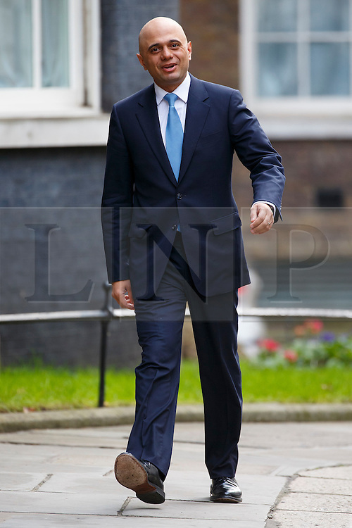 © Licensed to London News Pictures. 20/02/2016. London, UK. Business Secretary SAJID JAVID attending a cabinet meeting in Downing Street on Saturday, 20 February 2016 after a deal made on the UK's EU membership in Brussels. Photo credit: Tolga Akmen/LNP