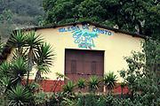 Small rural pentecostal church, Iglesia de Cristo, of the Elim ministry in the hills above Panajachel. Panajachel, Republic of Guatemala 03Mar14