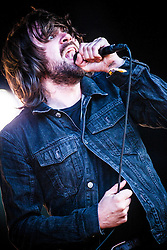 """The Vaccines' Justin Young. Friday at Rockness 2013, the annual music festival which took place in Scotland at Clune Farm, Dores, on the banks of Loch Ness, near Inverness in the Scottish Highlands. The festival is known as """"the most beautiful festival in the world"""" ."""