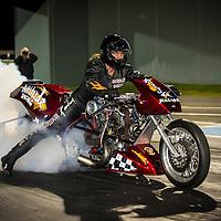 Ian 'Single' Ashelford (873) - Attitude Racing - Harley-Davidson Top Fuel Motorcycle.