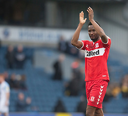 Mikel John Obi of Middlesbrough applauds the fans at the final whistle - Mandatory by-line: Jack Phillips/JMP - 17/02/2019 - FOOTBALL - Ewood Park - Blackburn, England - Blackburn Rovers v Middlesbrough - English Football League Championship