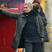 Real Madrid's coach Jose Mourinho during their UEFA Champions League Quarter-finals, Second leg match Galatasaray between Real Madrid at the TT Arena AliSamiYen Spor Kompleksi in Istanbul, Turkey on Tuesday 09 April 2013. Photo by Aykut AKICI/TURKPIX