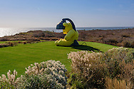 """""""Untitled (Lamp/Bear)"""" by Urs Fischer, Andy Warhol's former home. 406 Old Montauk Hwy, Montauk,  New York"""