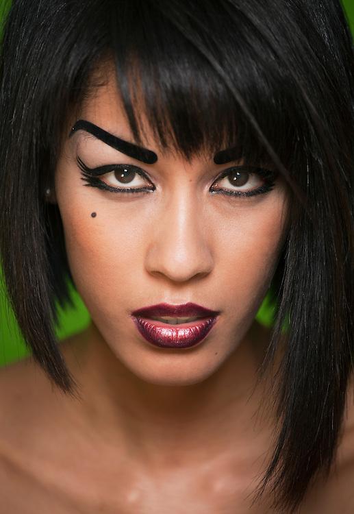 Model: Yuna Dulamsuren.Make-up: Cristina Orzaez