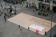 Abschlussveranstaltung der Leerstandskampagne auf dem Gänsemarkt.