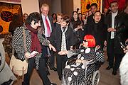 FRANCES MORRIS; YAHOI KUSAMA;, Yayoi Kusama opening. Tate Modern. London. 7 February 2012