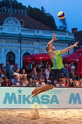 Florian Schnetzer of Austria at Beach Volleyball Challenge Ljubljana 2014, on August 1, 2014 in Kongresni trg, Ljubljana, Slovenia. Photo by Matic Klansek Velej / Sportida.com