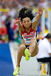 Sachiko Masumi of Japan competes in the women's Long Jump Qualification during day seven of the 12th IAAF World Athletics Championships at the Olympic Stadium on August 21, 2009 in Berlin, Germany.(Photo by Vid Ponikvar / Sportida)