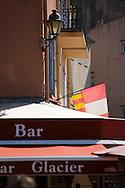 28SEP09 Les Voiles De St Tropez 2009..A bar on the waterfront.