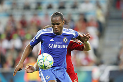 19.05.2012, Allianz Arena, Muenchen, GER, UEFA CL, Finale, FC Bayern Muenchen (GER) vs FC Chelsea (ENG), im Bild Didier DROGBA (FC Chelsea), dahinter Bastian SCHWEINSTEIGER (Bayern Muenchen) // during the Final Match of the UEFA Championsleague between FC Bayern Munich (GER) vs Chelsea FC (ENG) at the Allianz Arena, Munich, Germany on 2012/05/19. EXPA Pictures © 2012, PhotoCredit: EXPA/ Eibner/ Eckhard Eibner..***** ATTENTION - OUT OF GER *****