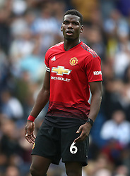 Manchester United's Paul Pogba appears dejected after Brighton & Hove Albion's second goal of the game