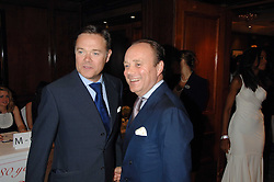 Left to right, HOWARD BARCLAY and AIDEN BARCLAY at a party to celebrate the 180th Anniversary of The Spectator magazine, held at the Hyatt Regency London - The Churchill, 30 Portman Square, London on 7th May 2008.<br /> <br /> NON EXCLUSIVE - WORLD RIGHTS