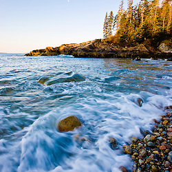 Early morning on Little Hunters Beach in Maine's Acadia National Park.