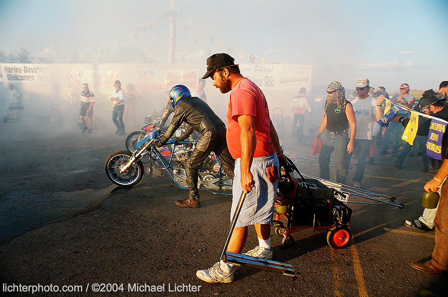 Staging before the Start, Sturgis, SD, 1994<br /> <br /> Limited Edition Print from an edition of 50. Photo ©1997 Michael Lichter.