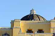 The dome of  the church of  La Merced from the south.  Antigua Guatemala, Republic of Guatemala. 02Mar14