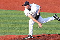 11 July 2012:   Tim Brown (Gateway Grizzlies) on the mound for Team West during the Frontier League All Star Baseball game at Corn Crib Stadium on the campus of Heartland Community College in Normal Illinois