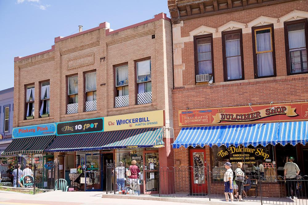 Window shopping in Manitou Springs, Colorado