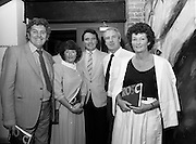 24/08/1984<br /> 08/24/1984<br /> 24 August 1984<br /> Opening of ROSC '84 at the Guinness Store House, Dublin. Some of the attendees at the opening of the ROSC '84 art exhibition including Mike Murphy (centre).