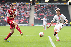 Milton Keynes Dons' Patrick Bamford and Bristol City's Brendan Moloney  - Photo mandatory by-line: Nigel Pitts-Drake/JMP - Tel: Mobile: 07966 386802 24/08/2013 - SPORT - FOOTBALL - Stadium MK - Milton Keynes - Milton Keynes Dons V Bristol City - Sky Bet League One