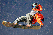 Jack Mitrani competes in the U.S. Snowboarding Grand Prix finals, Saturday, Jan. 23, 2010, in Park City, Utah. (AP Photo/Colin E Braley)