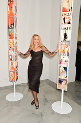 JERRY HALL at the Alexandra Shulman and Leon Max hosted opening of Vogue 100: A Century of Style at The National Portrait Gallery, London on 9th February 2016.