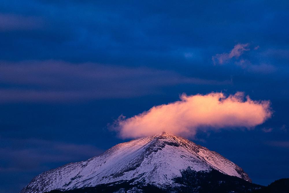 Divide Mountain near Lake Saint Mary, evening light, Glacier National Park, Montana, USA