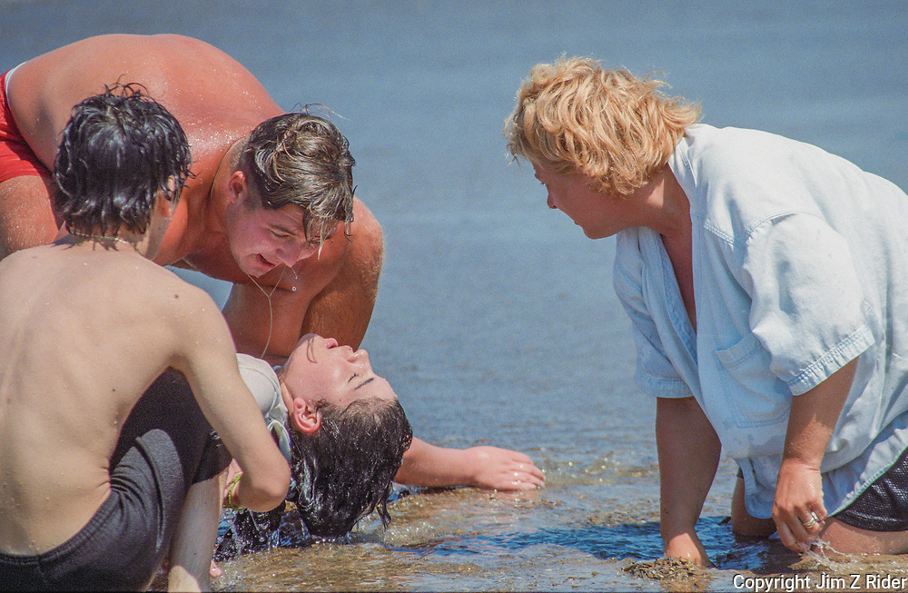 A young girl is rescued from Lake Michigan after being caught in a riptide.  Warnings were posted.