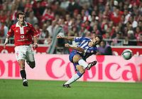LISBOA 17 OCTOBER  2004: (L to R) PETIT#6 and RICARDO COSTA #5, in the, 6¼ leg of the Super Liga, season 2004/2005, match SL Benfica v  FC Porto, held in Luz stadium, 17/10/2004  19:45<br />(PHOTO BY: NUNO ALEGRIA / AFCD)