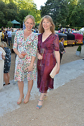 Left to right, ROSIE NIXON and RUTH SULLIVAN at the Quintessentially Foundation and Elephant Family 's 'Travels to My Elephant' Royal Rickshaw Auction presented by Selfridges and hosted by HRH The Prince of Wales and The Duchess of Cornwall held at Lancaster House, Cleveland Row, St.James's, London on 30th June 2015.