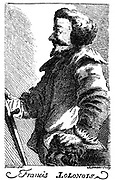 Francis Lolonois or l'Ollonais, notorious 17th century pirate noted for his brutality.  Operating mainly in the West Indies he progressed from slave to Pirate King.  After engraving published 1741