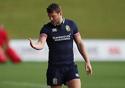 British & Irish Lions Dan Biggar during the training session at the QBE Stadium, Auckland.