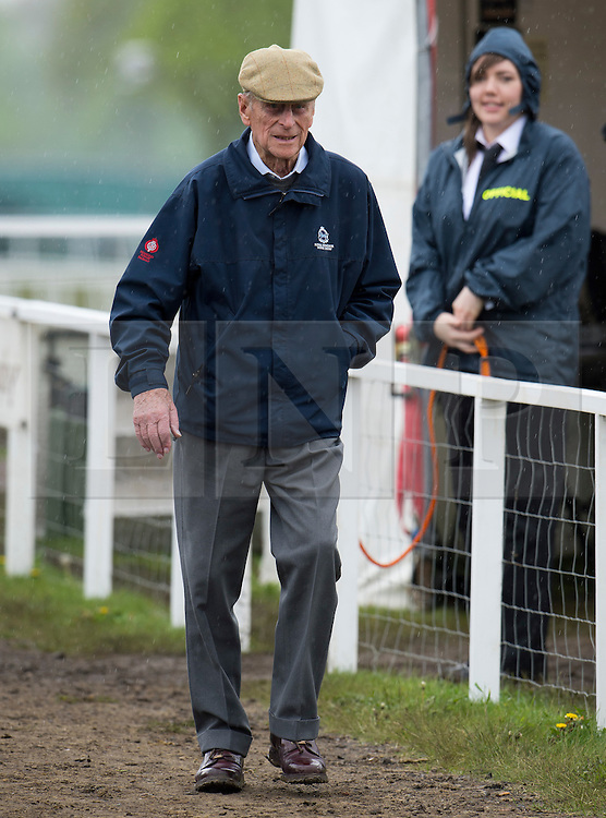 © London News Pictures. 10/05/2012. London, UK. HRH The Duke of Edinburgh arriving for the Driving for the Disabled class at the Royal Windsor Horse Show in Windsor, Berkshire, before presenting awards , on May 10, 2012. Photo credit: Ben Cawthra/LNP