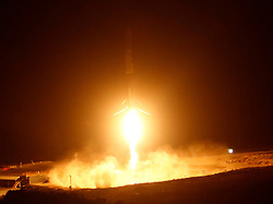 10-7-18. Vandenberg AFB. CA. SpaceX F9 returns to the landing pad after a successfully launched of a Falcon 9 rocket Sunday at 7:21 p.m, with a SAOCOM 1A, a radar observation satellite for Argentina, then returned the booster to a landing at Vandenberg Air Force Base, California, for the first time. . Photo by Gene Blevins/LA DailyNews/ZUMAPRESS (Credit Image: © Gene Blevins/ZUMA Wire)