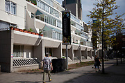 The Brunswick Centre near to Russel Square, central London. This area until recently was extremely run down. Now cleaned up it is a popular whopping and entartainment centre.