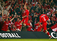 Photo: Scott Heavey.<br /> Middlesbrough v Bolton Wanderers. Carling Cup Final. 29/02/2004.<br /> Bolo Zenden celebrates the second for Boro