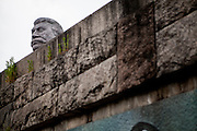 "Stalin's replica head seen from below. For a TV movie called ""Monstrum"" produced by the Czech Television a huge replica of Soviet dictator Joseph Stalin was installed at metronome in the Czech capital. From May 1, 1955, until it was destroyed at the end of 1962  a giant granite statue of Stalin with a line of workers and scientists behind him was standing exactly at the same place."
