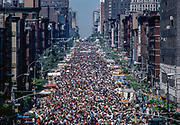 Crowds at 9th Ave Street Festival, New York City, New York, USA, May 1982