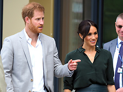 The Duke and Duchess of Sussex make their first trip to their namesake county to open the University of Chichester's new Engineering and Technology Park<br /><br />3 October 2018.<br /><br />Please byline: Vantagenews.com