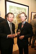 DAVID BLANC AND ADAM DANT, Adam Dant: The Art of Hedge. Robilant and Voena Gallery. Dover st. London. 12 November 2007. -DO NOT ARCHIVE-© Copyright Photograph by Dafydd Jones. 248 Clapham Rd. London SW9 0PZ. Tel 0207 820 0771. www.dafjones.com.