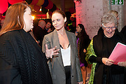 PROF. LOUISE WILSON OBE; STELLA MCCARTNEY; JANE RAPLEY OBE HEAD OF COLLEGE,  , Stella McCartney, Sir Peter Blake, Nigel Carrington and Jane Rapley host a hard-hat party in the building site for the future home of Central St. Martin's. The Granary Building complex in King's Cross. London. 17 September 2009