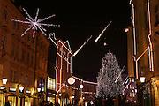 Ljubljana, Slovenia, in festive December colors. Veseli december v Ljubljani.