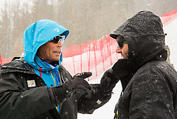 Markus Waldner, Chief Race Director World Cup Men talks to Andrea Massi, coach of Slovenia after the 1st Run of 10th Men's Giant Slalom race of FIS Alpine Ski World Cup 55th Vitranc Cup 2016, on March 5, 2016 in Kranjska Gora, Slovenia. Photo by Vid Ponikvar / Sportida