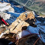 Mountaineering in Lötschental, Switzerland