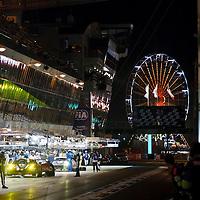 The pits at night at Le Mans 24H, 2014 (Saturday, 14 June)