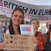 London, UK, 13th September 2017. Hundreds attends The Citizens' Rally campaign and the importance of guaranteeing citizens' rights in Trafalgar Square.