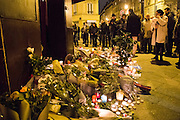 TRIBUTE OF THE REPUBLIC SQUARE - 24H AFTER ATTACKS OF PARIS 129 DEAD AND OVER 350 injured. -<br /> ©Exclusivepix Media