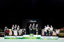 Podium Vaulting Pas de Deux - Pas de Deux Vaulting Round 2 - Alltech FEI World Equestrian Games™ 2014 - Normandy, France.<br /> © Hippo Foto Team - Jon Stroud<br /> 05/09/2014