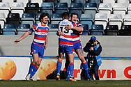 Rochdale Hornets winger Rob Massam (5) scores the opening try during the Betfred Championship match between Rochdale Hornets and Halifax RLFC at Spotland, Rochdale, England on 25 February 2018. Picture by Simon Davies.