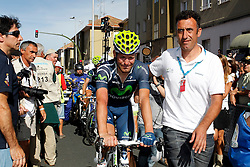 31.08.2012, 13. Etappe, Santiago de Compostella nach Ferrol, ESP, La Vuelta, im Bild Jose Joaqui Rojas injured // after falling // during the La Vuelta, Stage 13 Santiago de Compostella to Ferrol, Spain on 2012/08/31 (ALTERPHOTOS/Paola Otero). EXPA Pictures © 2012, PhotoCredit: EXPA/ Alterphotos/ Paola Otero..***** ATTENTION - OUT OF ESP and SUI *****