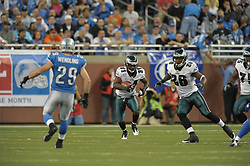 DETROIT - SEPTEMBER 19: Cornerback Ellis Hobbs #31 of the Philadelphia Eagles returns a kick during the game against the Detroit Lions on September 19, 2010 at Ford Field in Detroit, Michigan. (Photo by Drew Hallowell/Getty Images)  *** Local Caption *** Ellis Hobbs